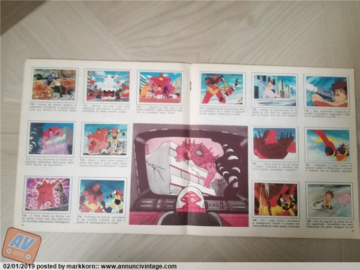 REMOVED ONLY COVER ORIGINAL DALTANIOUS 1981 SOLO COPERTINA FIGURINE PANINI