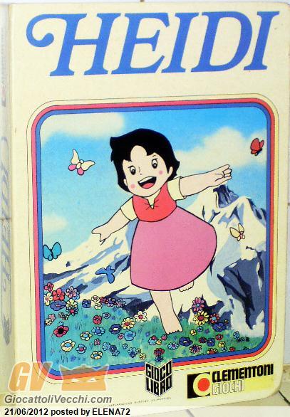 Gioco libro cartone animato di heidi clementoni anno